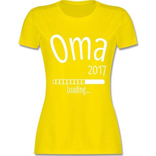 Oma - Oma 2017 loading - tailliertes Premium T-Shirt mit Rundhalsausschnitt  für Damen Lemon