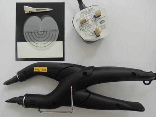 Verklebt Haarverlängerung (Haarverlängerung Wärmezange Eisen SET fpr vor-verklebt Nagelspitze Haar)