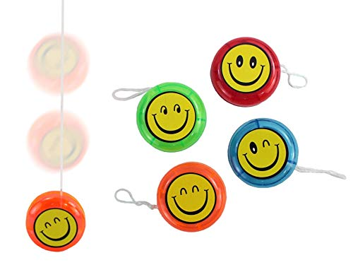 wuselwelt JoJo YoYo Lot de 12 Anniversaires d'enfants Motif Smile et Inscription en Allemand Give Away Tombola