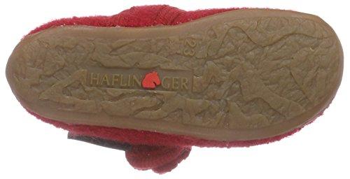 Haflinger Fleur, Chaussons courts, non doublées fille Rouge - Rot (85 ziegelrot)