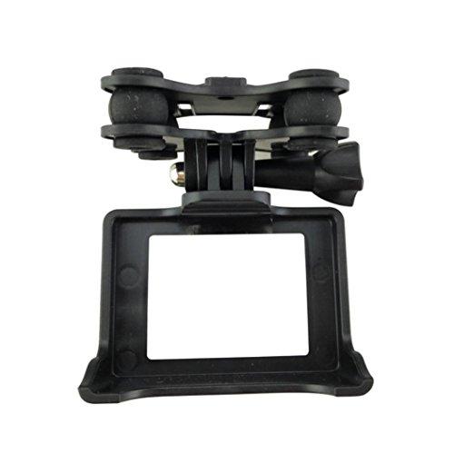igemy soporte de cámara cardán con cardán de/para MJX B3para Syma X8C/x8g, X8W Quadcopter Drone Helicóptero, negro