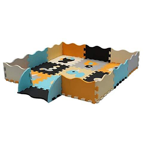 yukio Kindertoys - Kinderspielteppich Spielmatte Spielteppich Schaumstoffmatte Matte, Kälteschutz Anti-Rutsch Matte