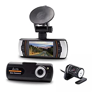 accfly car dash cam camera dvr recorder dashboard amazon. Black Bedroom Furniture Sets. Home Design Ideas