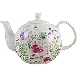 Anglais Vaisselle Co. en Fleurs Floral en Porcelaine Fine Théière