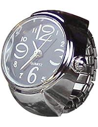 Dial de Reloj analógico de Cuarzo Creative Steel Cool Reloj de Dedo de Cuarzo elástico,