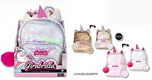 Nice- Zainetto Mini Backpack Girabrilla Unicorno-1 pz, Colore, 02530