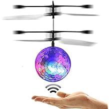 POAO RC Fliegender Ball,Mini Flugzeug-Hubschruber,Infrarot Induktionshubschrauber Ball Spielzeug