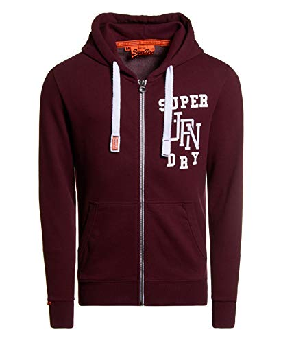 Superdry Herren Orange Label Full Zip Double Monogram Hoodie - Mehrfarbig - Groß -