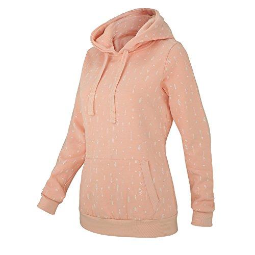 SUBLEVEL Damen Sweatshirt mit Kapuze Freizeit Hoodie mit Print CL 2500 Rose