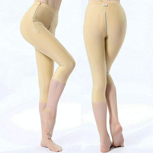 Stovepipe Pressursure Corset, Body Shaping Body Pants, Liposuction Postoperative Repair, Adjustment Type, Hip + Bdomen, Ankle Zipper Design, Convenient to Go to to The Toilet,Flesh,S