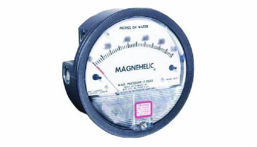 Dwyer Magnehelic Series 2000 Differential Pressure Gauge, Range 0.05-0-0.20