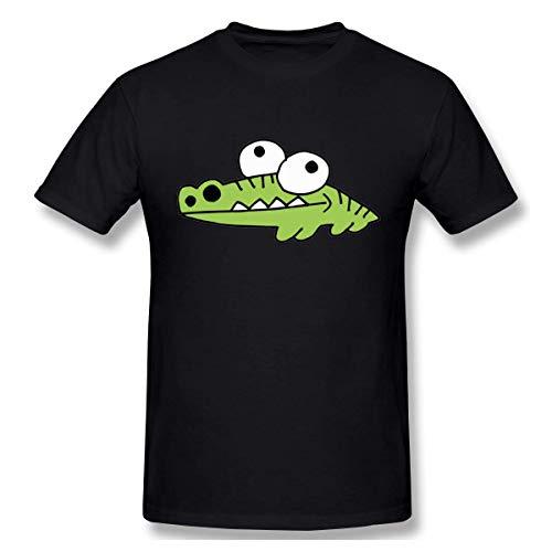 Men's Alligator Crocodile Gator Fashion Short Sleeve T Shirts Black S -