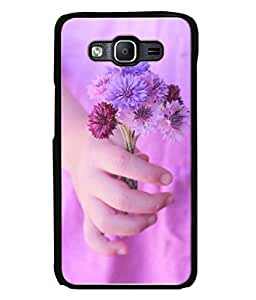 Fuson Designer Back Case Cover for Samsung Galaxy J7 J700F (2015) :: Samsung Galaxy J7 Duos (Old Model) :: Samsung Galaxy J7 J700M J700H (Fabric Design Flower Leather Steel)