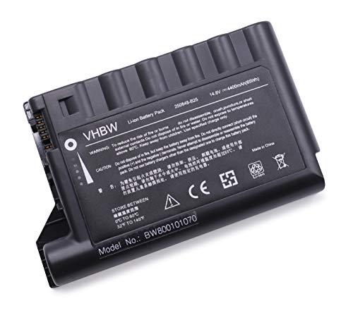vhbw Batterie LI-ION 4400mAh 14.8V Noir Compatible pour HP Compaq remplace 229783-001, 232633-001, 250848-B25