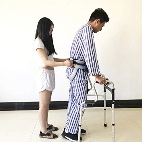 41SmVUEpm7L - Cinturón de transferencia con lazos de pierna, seguridad de enfermería médico dispositivo de asistencia de Gait-terapia ocupacional y física para Bariatría, pediátrica, ancianos (azul)
