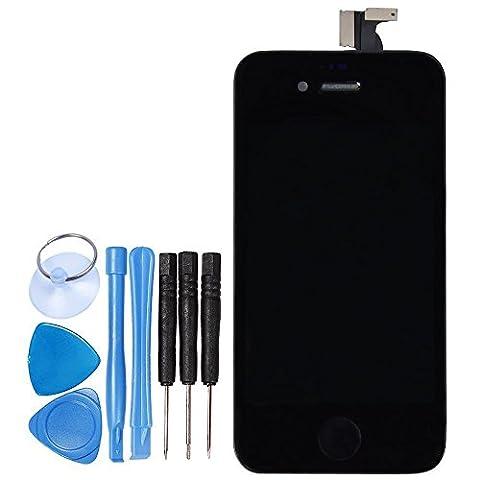 LL TRADER Pour iPhone 4S Noir LCD Afficher Assemblée Écran Tactile Pièce de Rechange de Numériseur + Outils + Bouton d'accueil + Caméra + Écouteur
