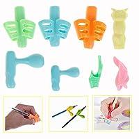 مقابض أقلام رصاص من هوميان، مقابض أصابع للأطفال، حامل أقلام وكتابة مساعد على الإمساك وأداة تصحيح وضعية القبضة، عبوة من 8 قطع