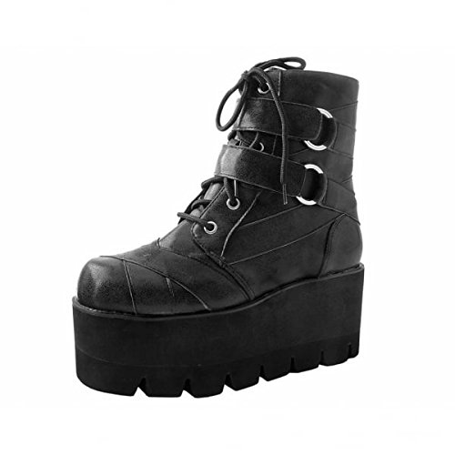 T.U.K. Shoes Frauen Schwarze O-Ring Armband Krawatte Traktor Boot EU37/UKW4