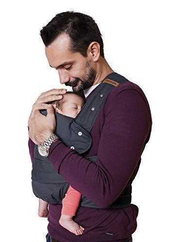 marsupi Babytrage und Neugeborenen-Trage, Classic (aus reiner Bio-Baumwolle), Version 2.0 (grey/ grau, XL)