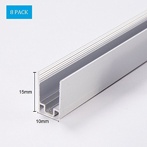 1M / 3.3ft Aluminiumkanäle sind geeigent für Installation von Shine Decor Led Neonlichter mit Durchmesser 8MM Shine Decor 8 Packungen