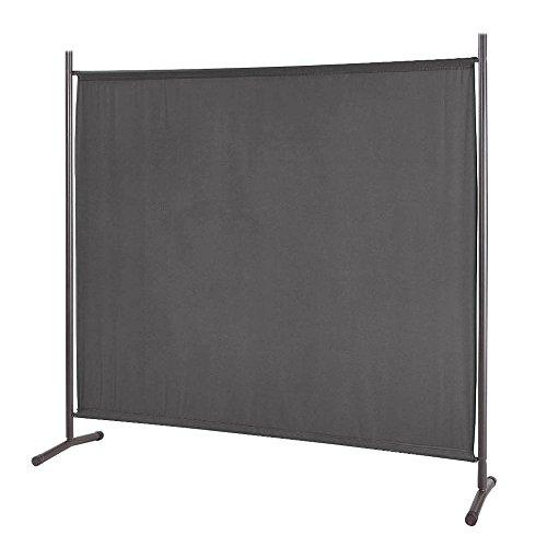SAILUN® Stellwand 180x180cm Paravent Raumteiler Trennwand Sichtschutz (180cm x 180cm, Anthrazit)