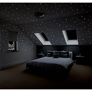 Amazon.de: WTD Wandtattoo Sternenhimmel 100er Set Leuchtsterne ...