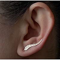SSEHX earring New Wings Stud Earrings For Women Punk gold-color Earrings simple design Fashion harajuku jewelry