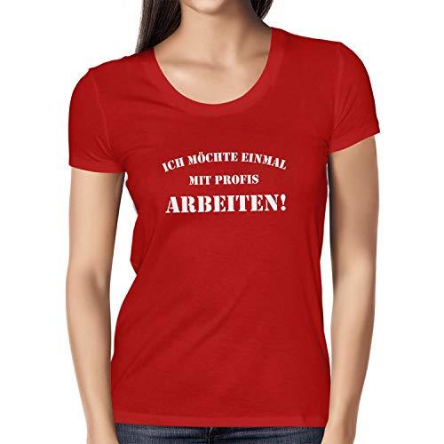 TEXLAB - Guardians College - Damen T-Shirt, Größe XL, rot (Drax The Destroyer Kostüm)