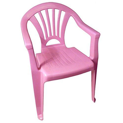 Kinderstuhl Plastik Gartenstuhl Stapelstuhl Kindersitz stapelbar Farbe(n) nach Auswahl Maße (H/L/B) 52x36x25 cm (Rosa )