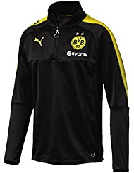 Puma Herren Bvb 1/4 Training Top with Sponsor Logo T-Shirt