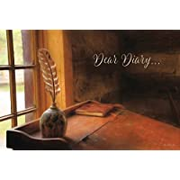Dear Diary - Fine Art Print on Fine Art Canvas - Print ON Canvas ONLY -NO Frame - Image Size is 32 x 22 Inch Wall Painting