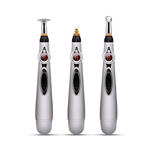 J.W. Laser-Akupunktur-Magnettherapie, Meridian-Energie-Stift, 3-In-1-Körper Gesundheit Monitor Meridian Instrument Behandlungs Massage, Wasserdicht