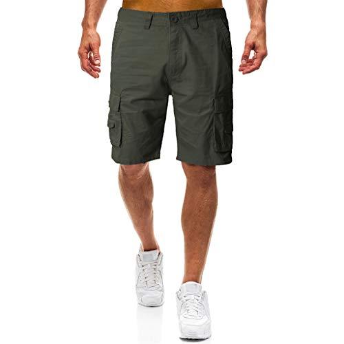 Männer Casual Pure Color Outdoor Pocket Cargo Shortssommer neu Arbeitshose Army Dress Blue Hose
