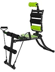 VITALmaxx 00162 Swingmaxx Fitnesstrainer 6 in 1 | Trainiert Bauchmuskeln, Rücken, Bizeps, Trizeps & Schultern | Platzsparend Verstaubar | Schwarz-Grün