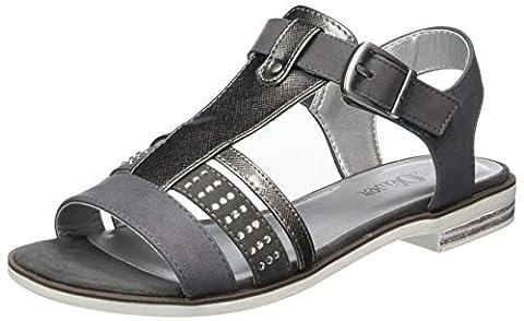 s.Oliver Mädchen 58220 T-Spange, Grau (Grey 200), 36 EU