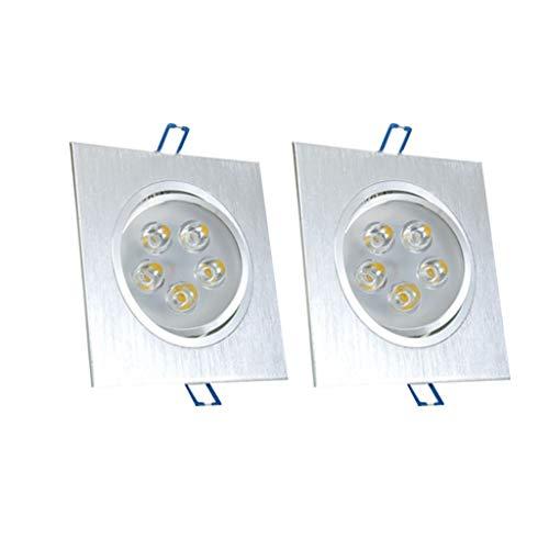 WRMOP LED De Una Sola Cabeza Cuadrada Downlight Pasillo Sala De Estar...