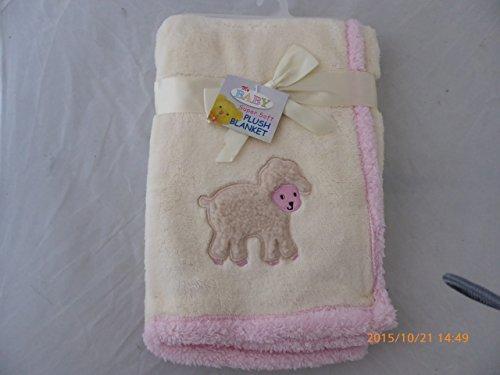EMBROIDERIED Lamm Plüsch Baby Decke