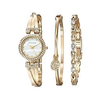 Anne Klein Women's AK-1868GBST Gold Metal Analog Quartz Fashion Watch