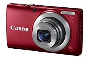Canon PowerShot A4000 IS Digitalkamera (16 Megapixel, 8-fach opt. Zoom, 7,6 cm (3 Zoll) Display, bildstabilisiert) rot