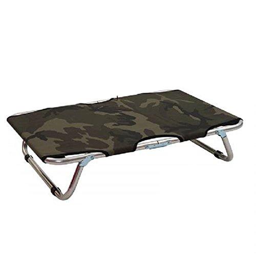 Brandina branda camouflage waterproof pieghevole per cane alluminio cuccia lettino gatto 60x100cm