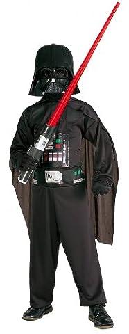 Darth Vader Kinderkostüm schwarz 128/140 (8-10 Jahre) (Padawan Star Wars Kostüm)