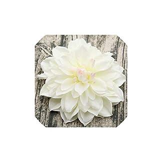 10pcs / Lot Gran Dalia Artificial Peony Cabeza de Flor 15Cm Seda de Boda de Flores Flowershome Decorativo, 4