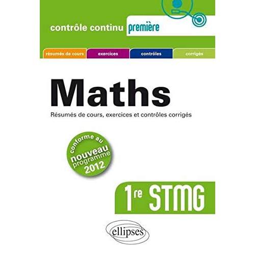 Maths Première STMG Conforme au Programme 2012