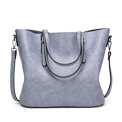 Mefly Sacco Sacco Bag Moda Donna Semplice Sacchetto Dell'Olio Verde blue
