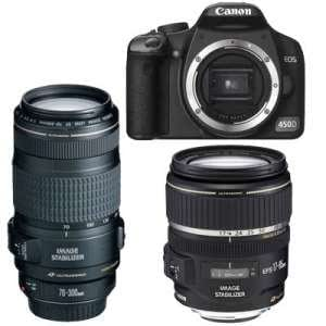Canon EOS 450 D Kit + 17-85 mm + 70-300 mm IS