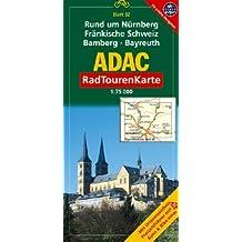 ADAC Radtourenkarte Rund um Nürnberg, Fränkische Schweiz, Bamberg, Bayreuth: 1:75000