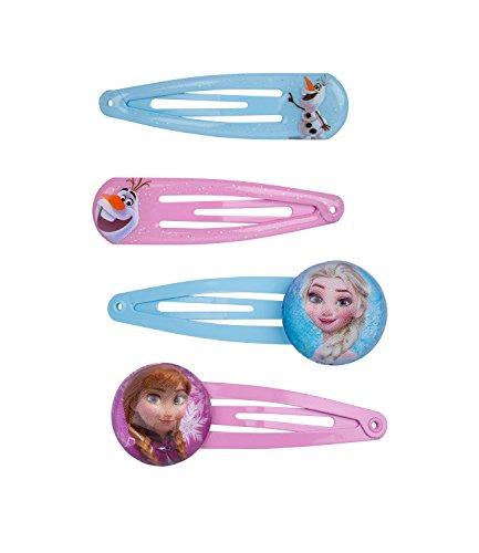 ney Frozen Haarspangen, Haarclips mit ELSA, Anna, Olaf, Rosa, Blau (304-432) (Mime Halloween Kostüm Kinder)