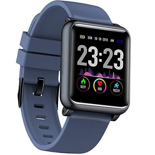 ALeis H9 EKG+PPG Monitor HR Blutdruck IP67 Sport Modes Ladegerät Dock Smart Watch, blau - Dock Blutdruck