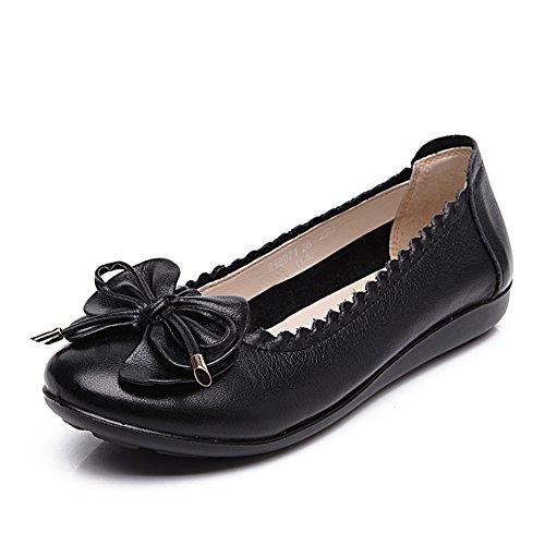 Asakuchi Damenschuhe/Flachen weichen mittleren Alters Mama am Ende des Schuhs/Lässige Damenschuhe/Damenschuhe A