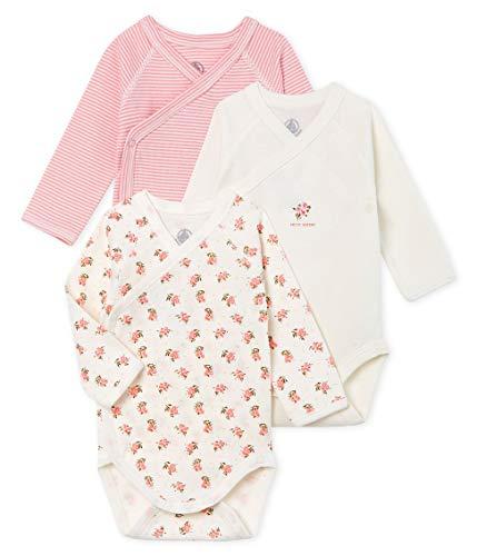 *Petit Bateau Baby-Mädchen Naissance ML_5012099 Formender Body, Mehrfarbig (Variante 2 99), 62 (Herstellergröße: 3M/60cm) (3er Pack)*